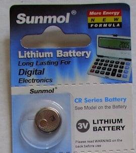 Батерия SUNMOL CR-1216 3V