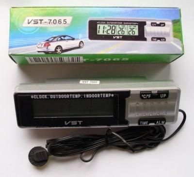 Термометър . часовник eлектронен с външна сонда - VST7067