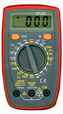 Измервателен уред . Мултицет DT-33C
