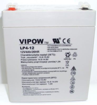 Акумулатор VIPOW 12V 4AH