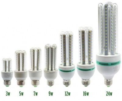 Лампа . LED крушка U-type E27 -12W  220V Светодиодна
