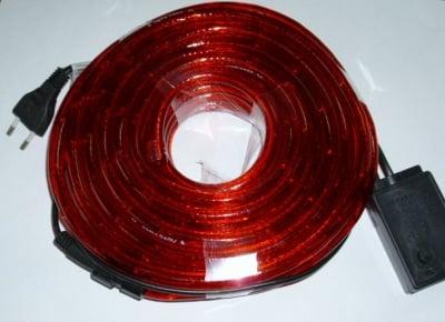 . . Светещ /мигащ/ маркуч - червен 10м.