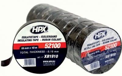 PVC лента, изолирбанд . изолационна лента HPX 52100 черна 19mm/10м/0,15mm  XB1910
