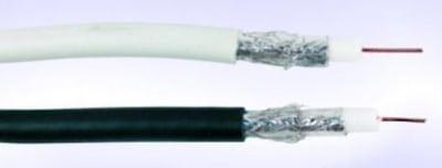 Кабел . RG-6 Бял, коаксиален - антенен