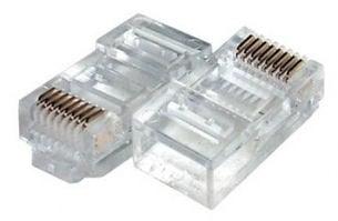 Букса . LAN кабел, компютърна, 8-ца RJ45 Конектор