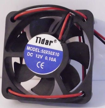 Вентилатор . 12V 40X40X10мм. с 3 кабела