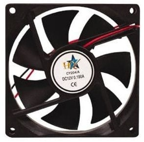 Вентилатор . 12V 92X92X25мм.