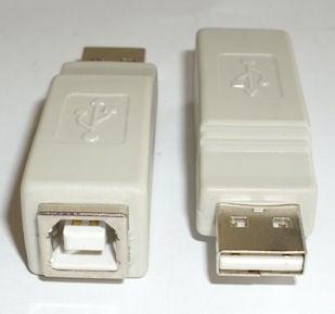 Букса . Компютърен преход - USB-A мъжко -- USB-B мъжко