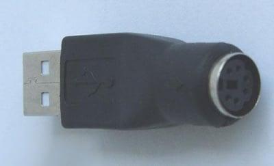 Букса . Компютърен преход - USB женско -- PS2 женско