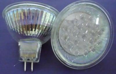 Лампа . Крушка луничка led 12V  24LED