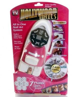 . . Принтер, Комплект машинка за декорация на нокти Hollywood nails