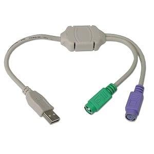 Кабел . компютърен преход USB женско на 2-е PS2 женски