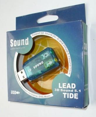 . . USB - Външна карта за звук