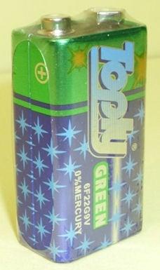 Батерия . 6F22G 9V  TOPLY GREEN