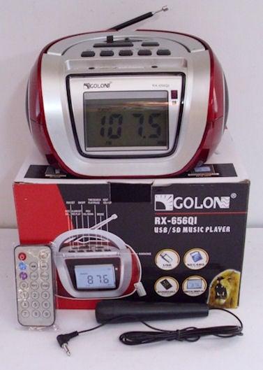 Радиоприемник . RX-656QI аудио система  -USB и SD/MMC, дистанционно, микрофон
