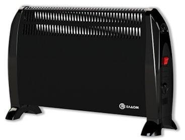 Конвекторна печка ЕЛДОМ Подова CF2000BL 2kW - черенa
