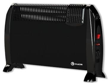 Конвекторна печка ЕЛДОМ Подова с вентилатор CFV2000BL 2kW - черна
