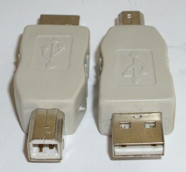 Букса . Компютърен преход - USB-A мъжко -- USB-B женско
