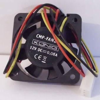 Вентилатор . 12V 40X40X10мм.