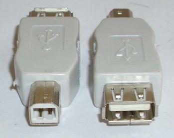 Букса . Компютърен преход - USB-A женско -- USB-B мъжко