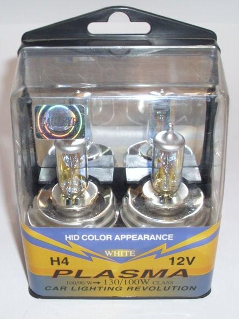 Автомобилна лампа . H4 12V ПЛАЗМА 100/90W P45T