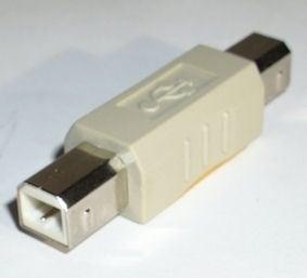 Букса . Компютърен преход - USB-B женско -- USB-B женско