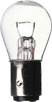 Автомобилна лампа . 12V/21W Бяла с една светлина с равен цокъл
