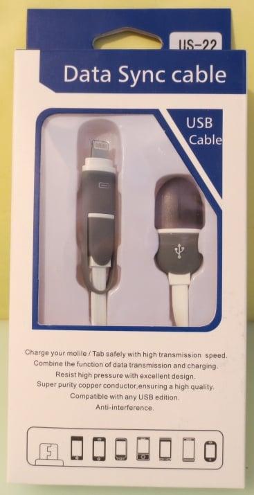 Кабел . USB на iPod айфон 1m US-22