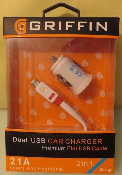 Адаптер . 12V зарядно  за GSM 2usb на micro USB GRIFFIN