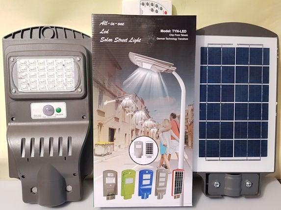 Прожектор  . LED 20w Соларен за външно осветрение със сензор и дистанционно
