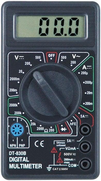 Измерванелен уред . Мултицет DT-830B