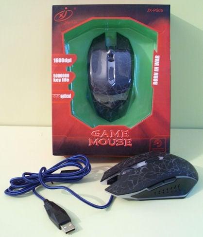 Компютърна мишка  . Геймърска оптична мишка GAME JX-P505