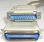 Кабел . компютърен принтер 25 pins мъжко - 36 pins мъжко
