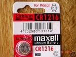 Батерия MAXELL CR-1216 3V